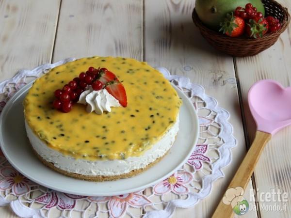 Cheesecake al mango e maracujia