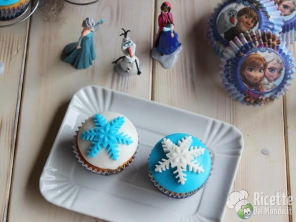 Ricetta cupcakes di Frozen Disney