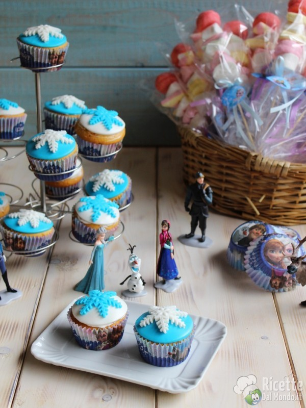 Come fare i cupcakes di Frozen Disney