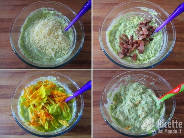Crostata salata di zucchine e fiori 6