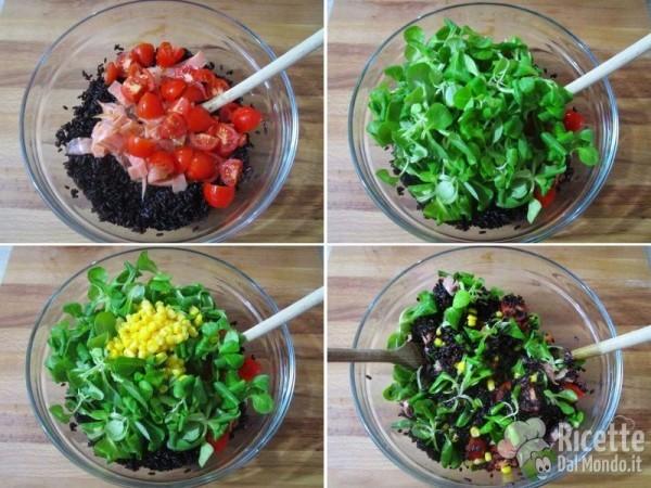 Insalata di riso venere e salmone 5
