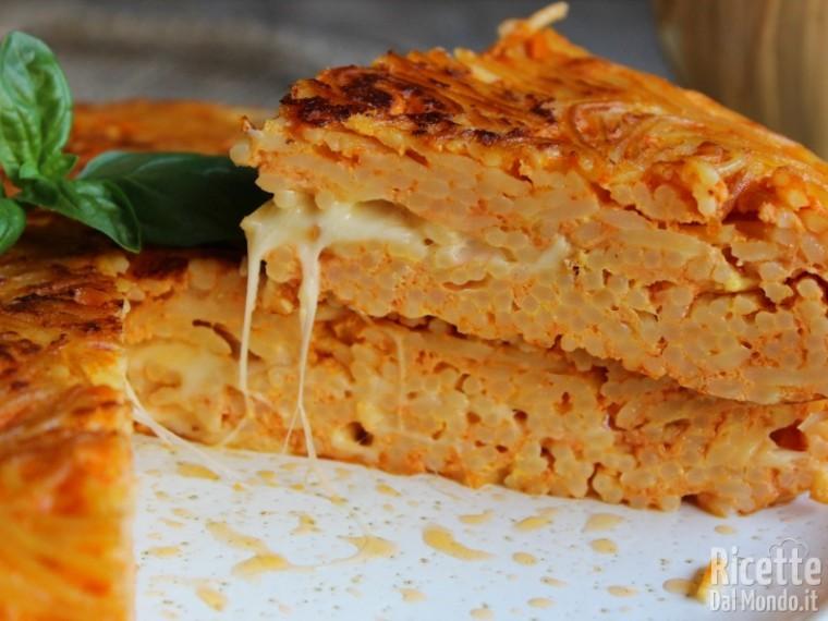 Ricetta frittata di spaghetti al sugo