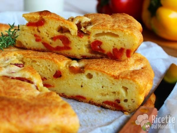 Ricetta Torta salata di peperoni e yogurt