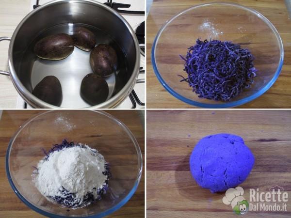 Gnocchi di patate viola 2