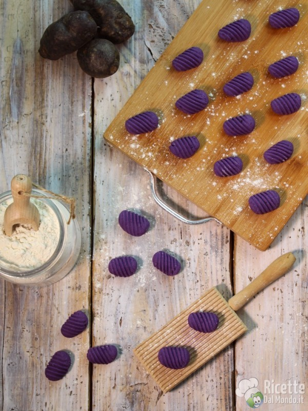 Gnocchi di patate viola o violette
