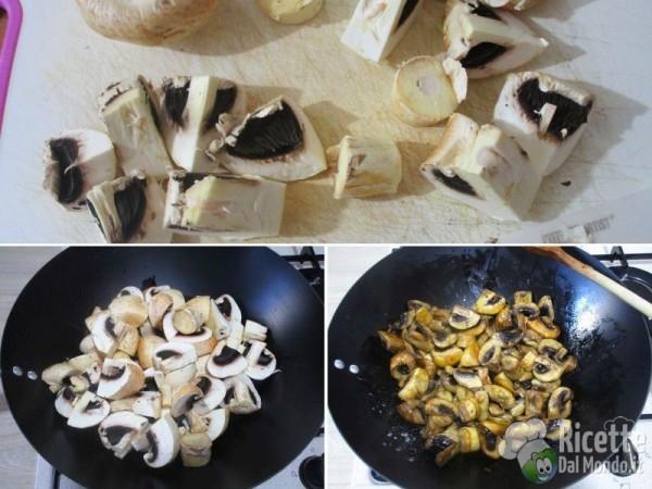Funghi e patate in padella 2