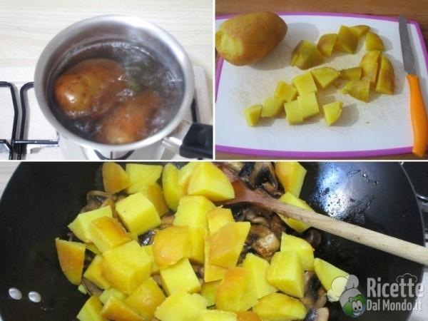 Funghi e patate in padella 3