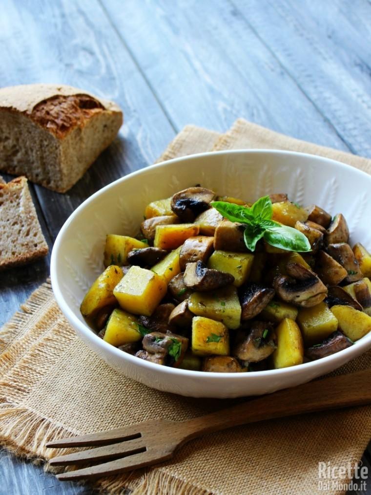 Come fare i funghi e patate in padella