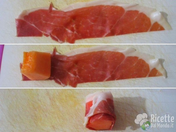 abbastanza Prosciutto e melone, finger food | RicetteDalMondo.it VB93