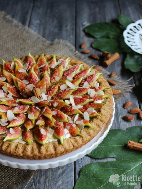 Come fare la crostata di mascarpone e fichi