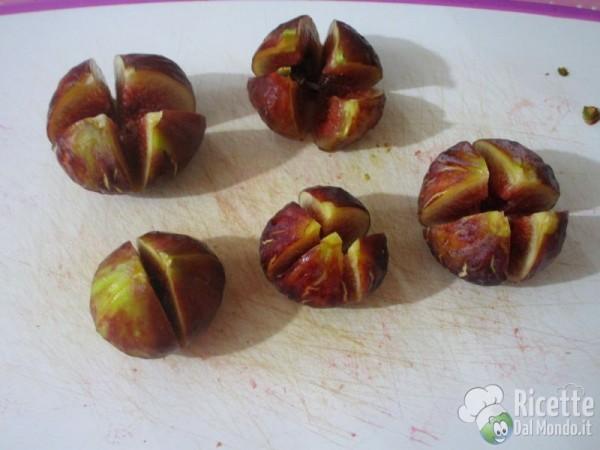 Rose di fichi e prosciutto crudo dolce di Parma 2