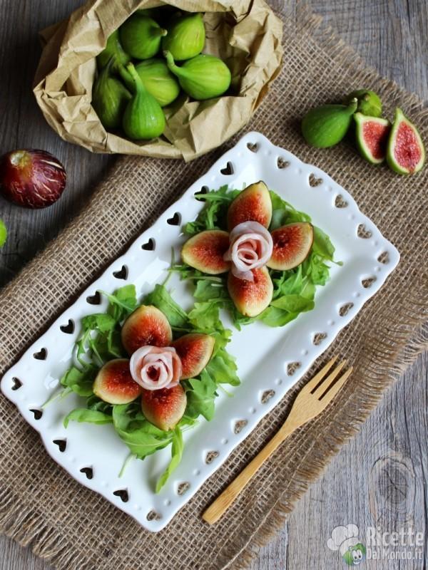 Ricetta rose di fichi e prosciutto crudo dolce di Parma