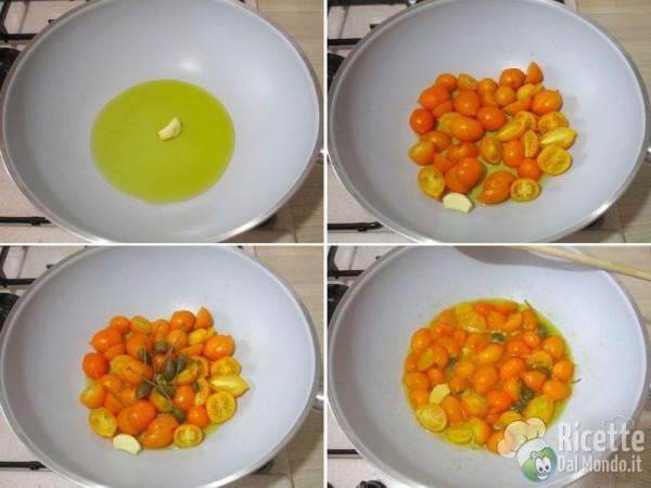 Spaghetti con pomodorini gialli del Vesuvio 2