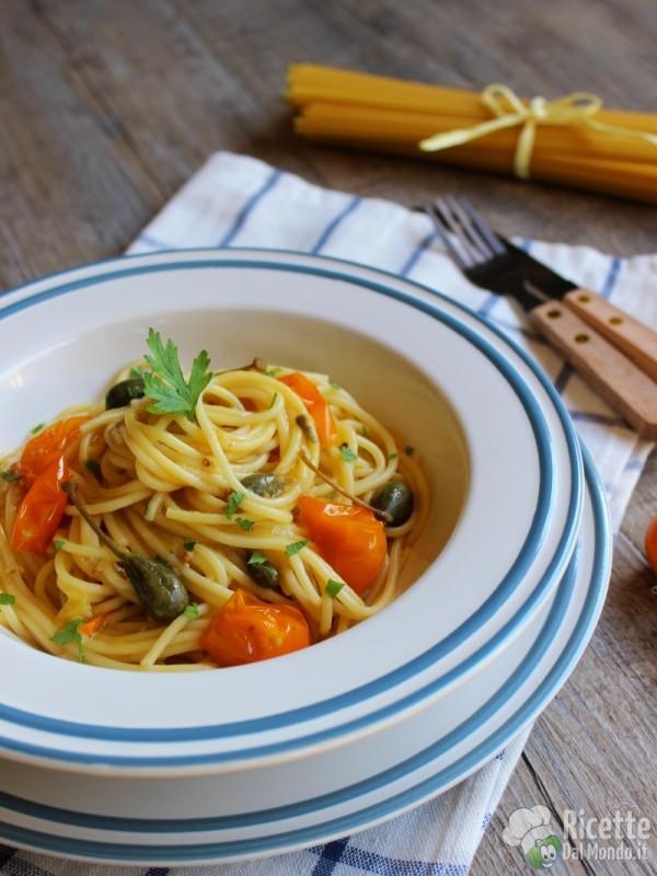 Come fare gli spaghetti con pomodorini gialli