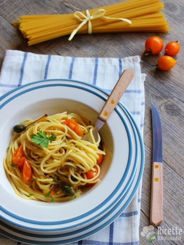 Come fare gli spaghetti con pomodorini gialli del Vesuvio
