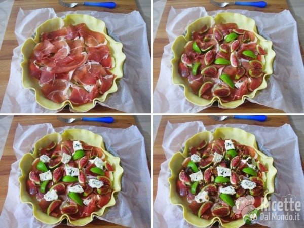Crostata salata di fichi, crudo e gorgonzola 3