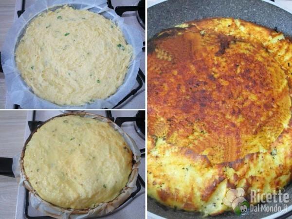 Pizza di patate in padella 4
