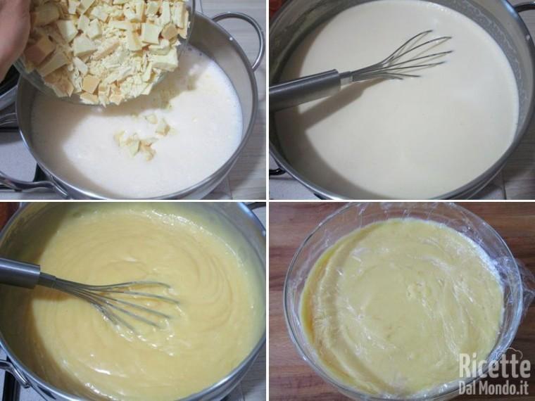 Torta della nonna al cioccolato bianco 5