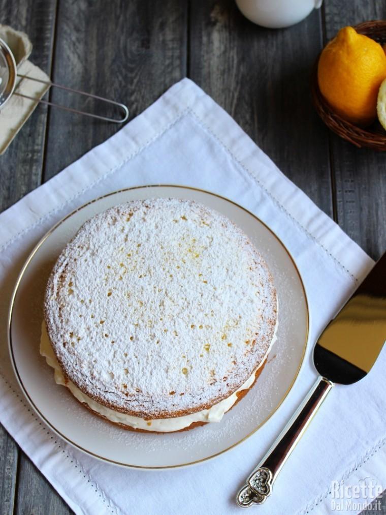Ricetta Torta paradiso farcita con crema al latte