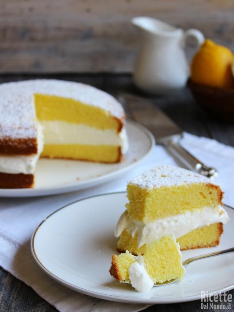 Torta paradiso farcita con crema al latte facile