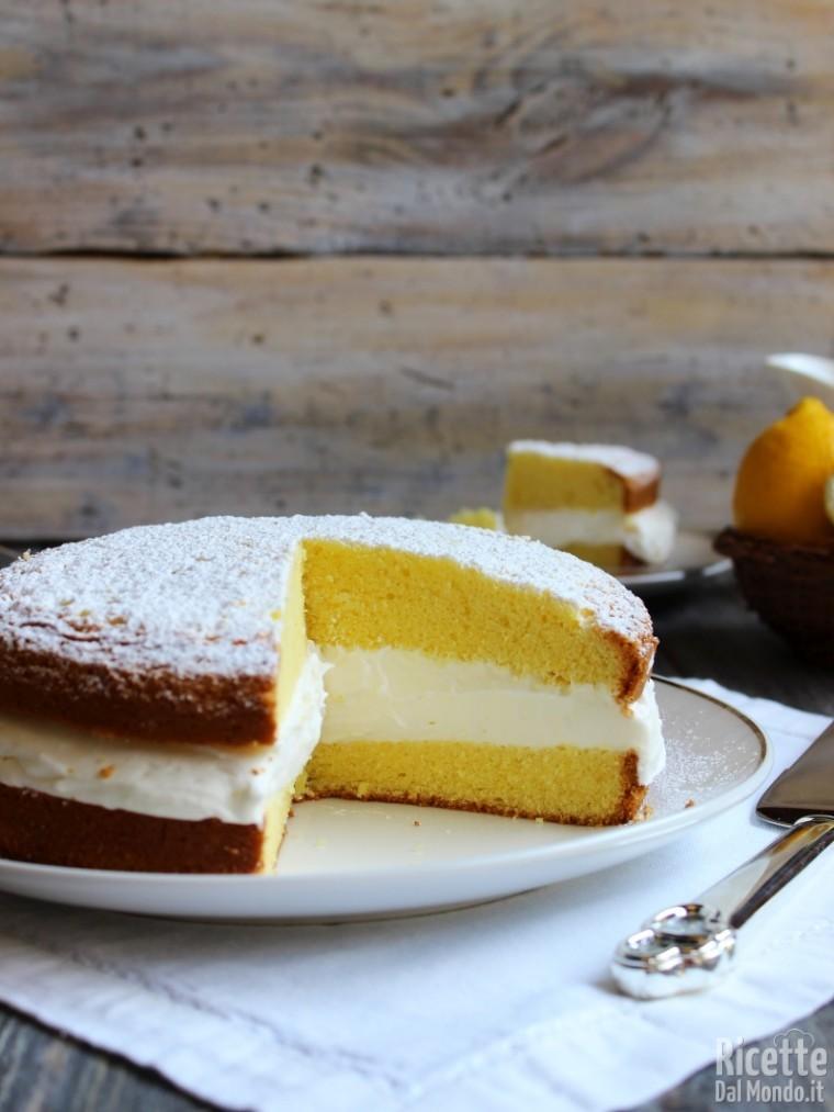 Ricetta Torta paradiso farcita con crema al latte soffice