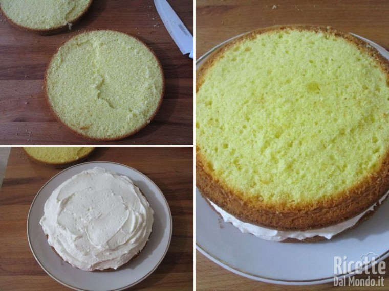 Torta paradiso farcita con crema al latte 8