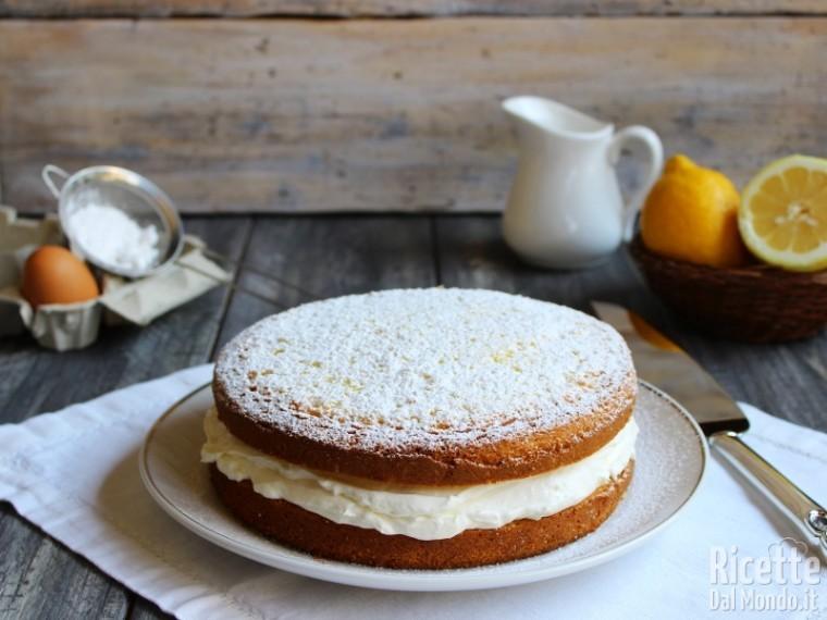 Torta paradiso farcita con crema al latte ricetta