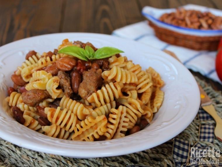 Ricetta pasta fagioli e salsiccia
