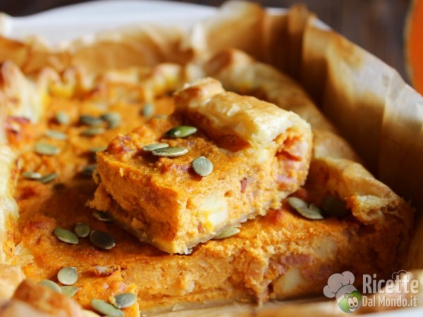 Ricetta Quiche salata zucca, pancetta e fontina
