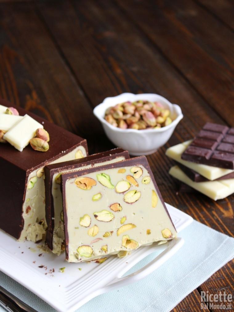 Torrone al pistacchio di Bronte e cioccolato