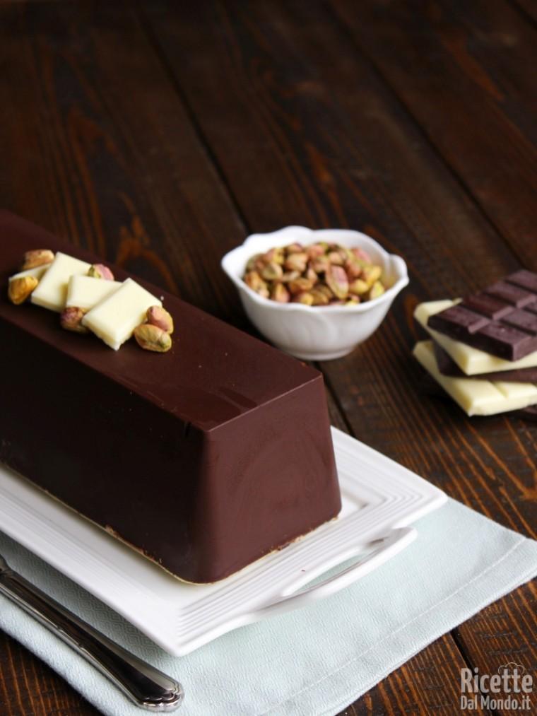 Torrone al pistacchio e cioccolato