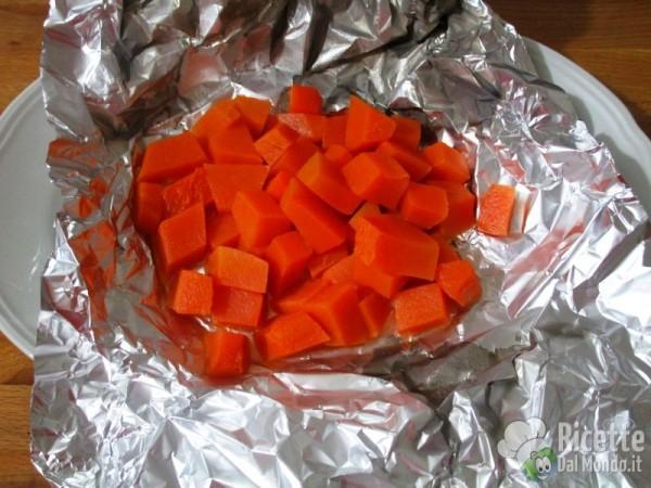 Rotolo di zucca con ricotta e gocce di cioccolato 2