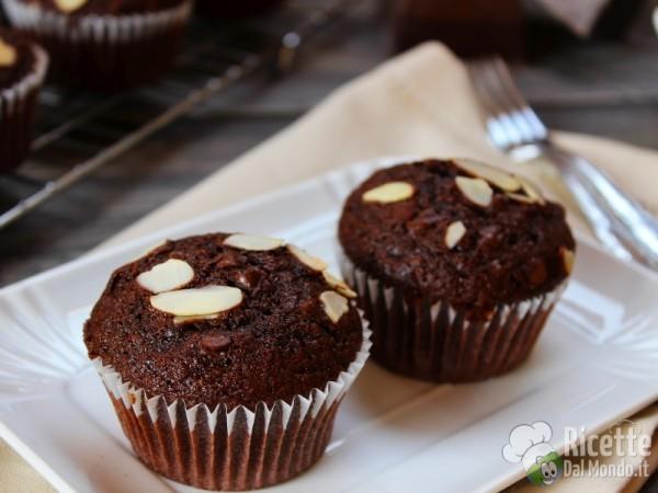 Ricetta muffin cioccolato e mandorle