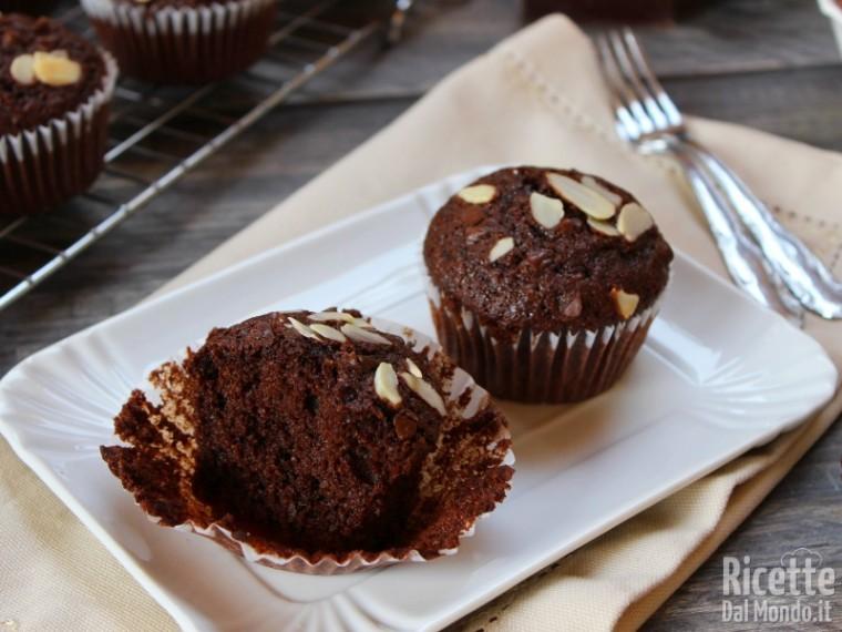 Muffin cioccolato e mandorle semplici