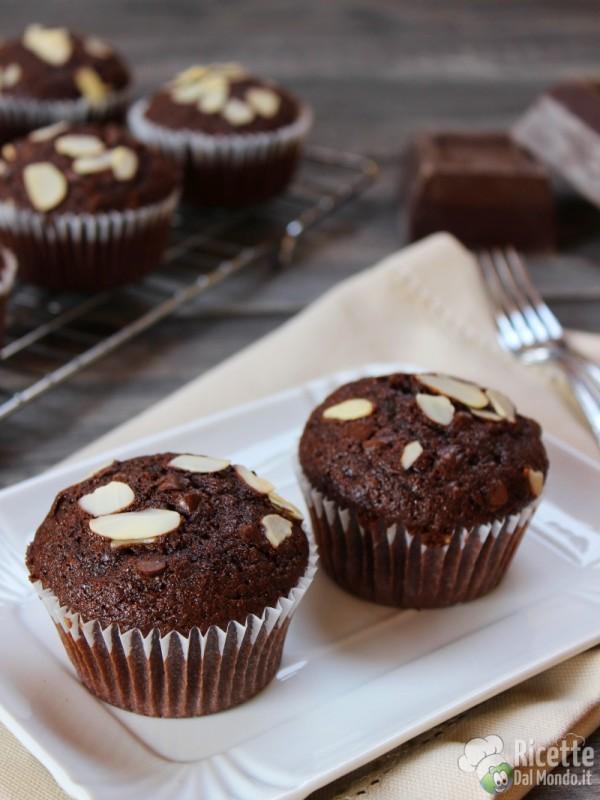 Come fare i Muffin cioccolato e mandorle