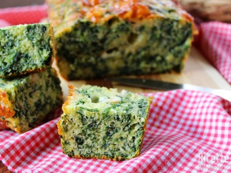 Plumcake agli spinaci semplice