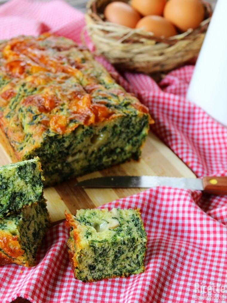 Come fare il plumcake agli spinaci