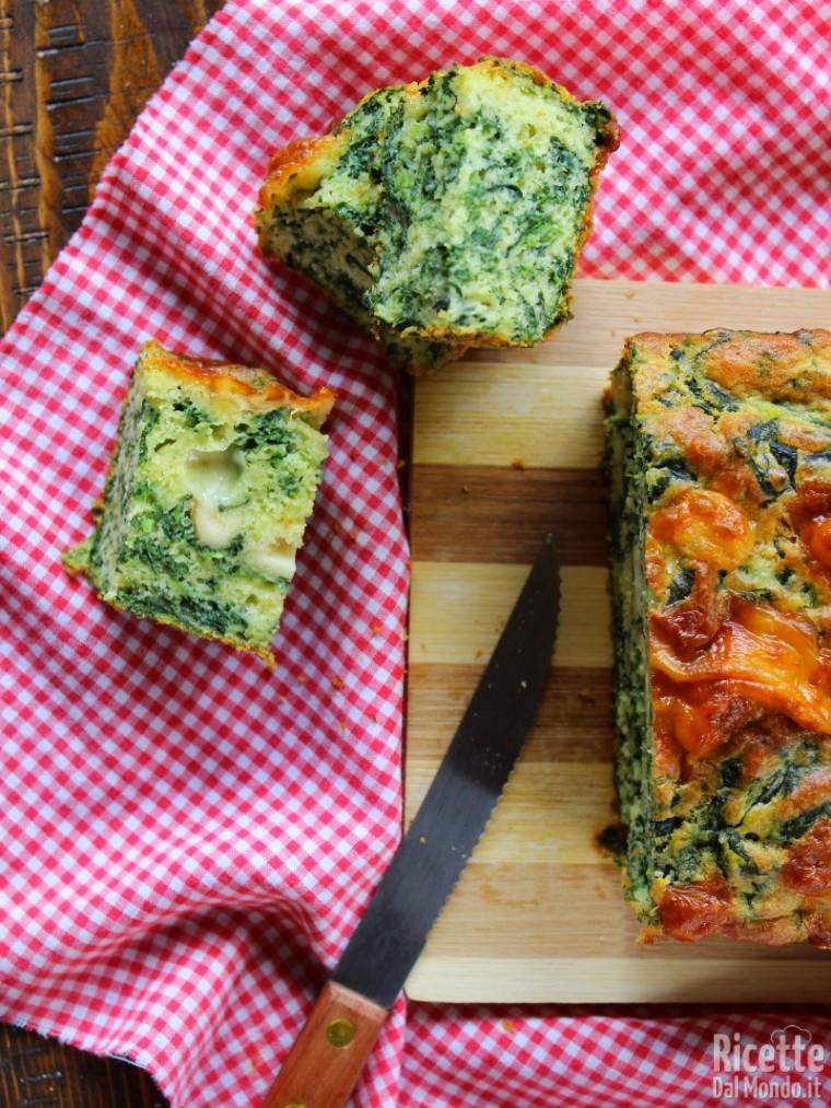 Plumcake agli spinaci soffice
