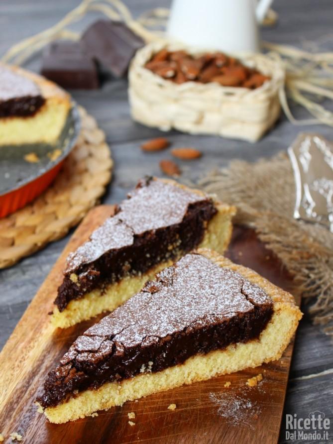 Crostata tenerina al cioccolato