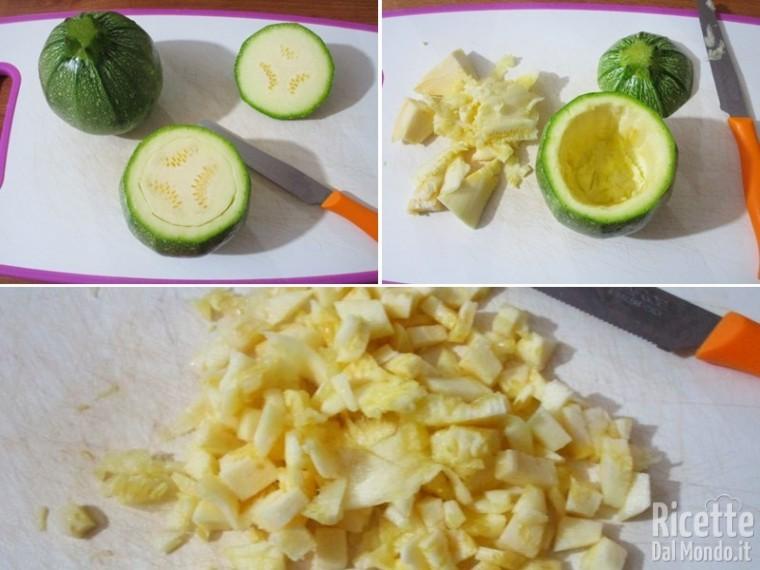 Zucchine tonde ripiene di carne 2