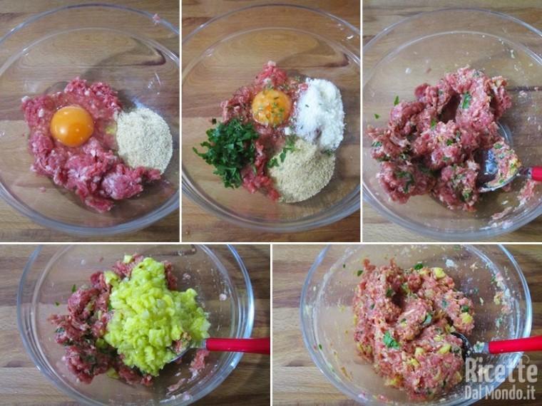 Zucchine tonde ripiene di carne 5