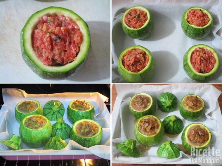 Zucchine tonde ripiene di carne 6
