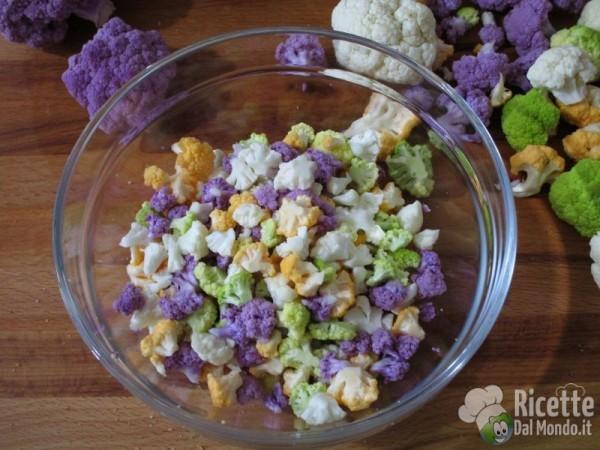 Pasta e cavolfiore colorato 2