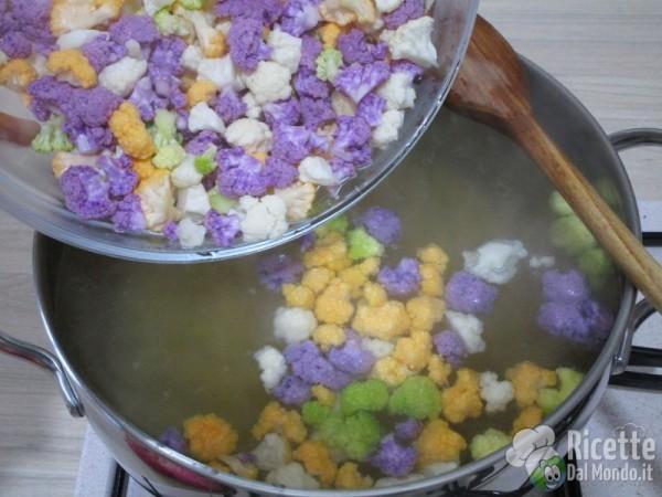 Pasta e cavolfiore colorato 4