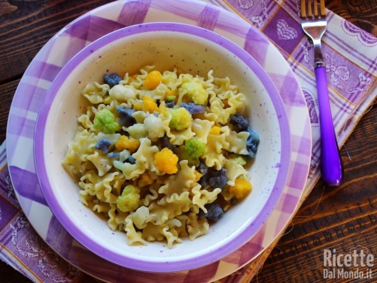 Ricetta Pasta e cavolfiore colorato