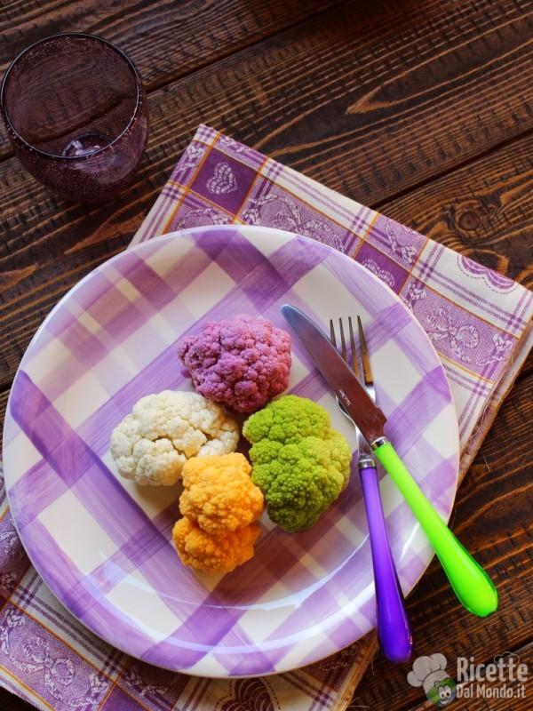 Pasta e cavolfiore colorato: ingredienti