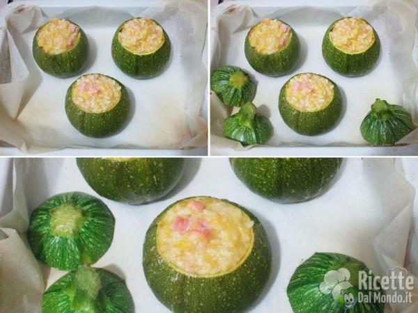 Zucchine tonde ripiene di riso 8