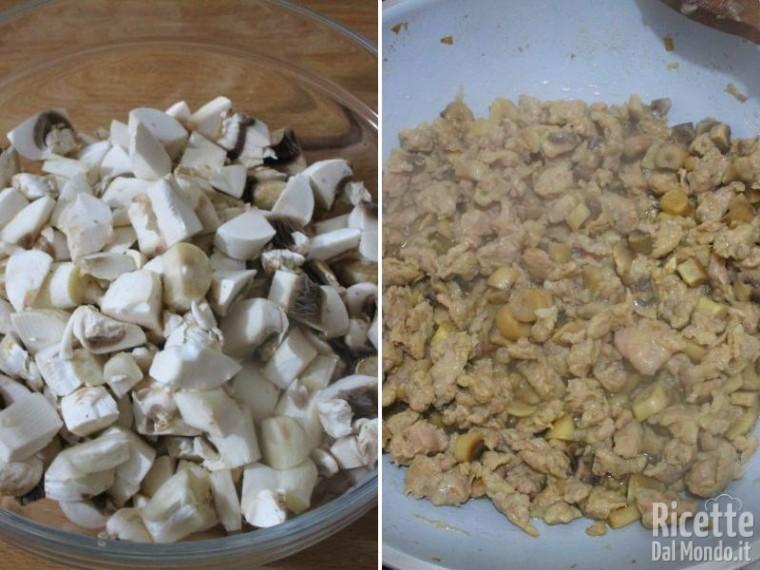 Paccheri ripieni di funghi e salsiccia 3