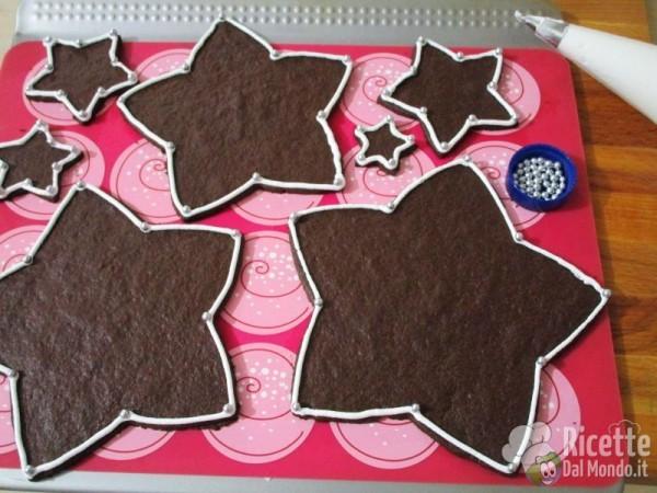 Albero di Natale di biscotti al cioccolato 8
