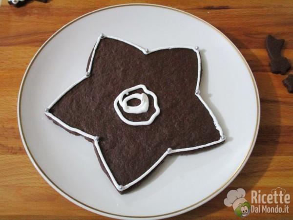 Albero di Natale di biscotti al cioccolato 9